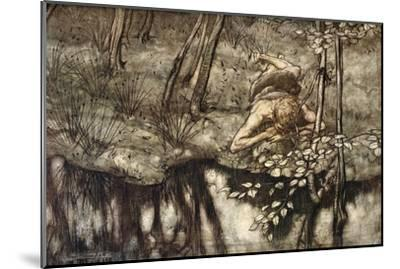 Siegfried sees himself in the stream', 1924-Arthur Rackham-Mounted Giclee Print