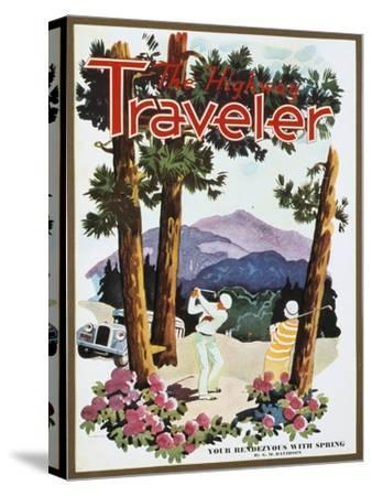 Cover of The Highway Traveler magazine, c1926-Unknown-Stretched Canvas Print