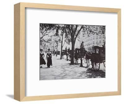 Street scene, New York City, USA, early 1900s-Unknown-Framed Photographic Print