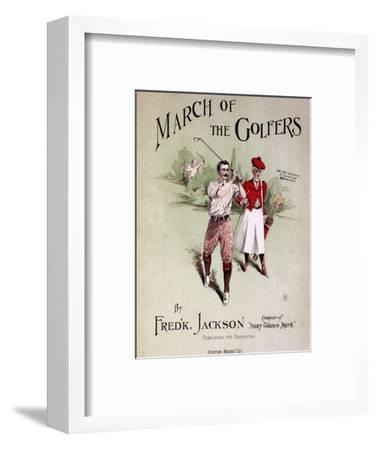 Sheet music cover, March Of The Golfers, 1903-Unknown-Framed Giclee Print