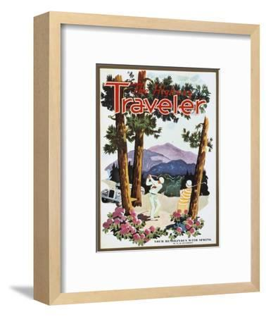 Cover of The Highway Traveler magazine, c1926-Unknown-Framed Giclee Print