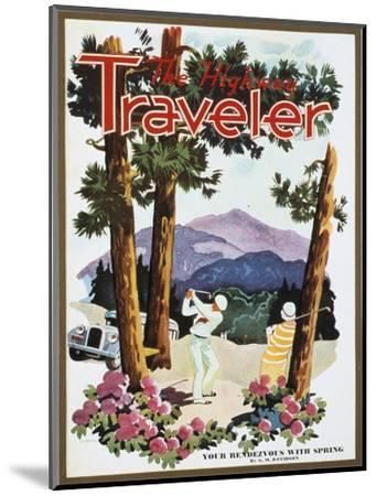 Cover of The Highway Traveler magazine, c1926-Unknown-Mounted Giclee Print