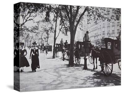 Street scene, New York City, USA, early 1900s-Unknown-Stretched Canvas Print