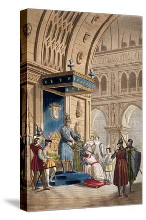'The creating of a Knight Templar', c1820-1830-Unknown-Stretched Canvas Print