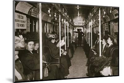 Hudson River subway train, New York, USA, c1901-Edwin Levick-Mounted Photographic Print