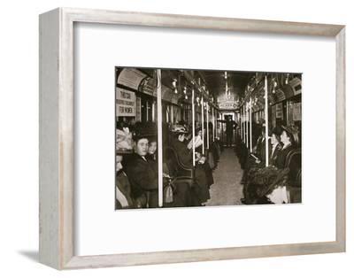 Hudson River subway train, New York, USA, c1901-Edwin Levick-Framed Photographic Print