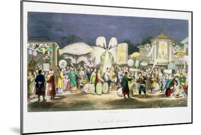 The Festival of the Lanterns, China, 1824-1827-Unknown-Mounted Giclee Print