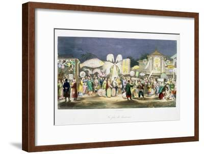 The Festival of the Lanterns, China, 1824-1827-Unknown-Framed Giclee Print