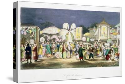 The Festival of the Lanterns, China, 1824-1827-Unknown-Stretched Canvas Print