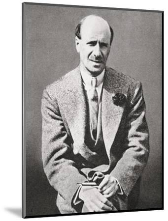 Clarence Hatry, failed British financier, 1929-Unknown-Mounted Photographic Print