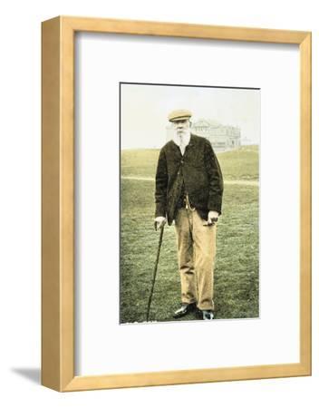 Old Tom Morris, Scottish golfer, postcard, 1900-Unknown-Framed Photographic Print