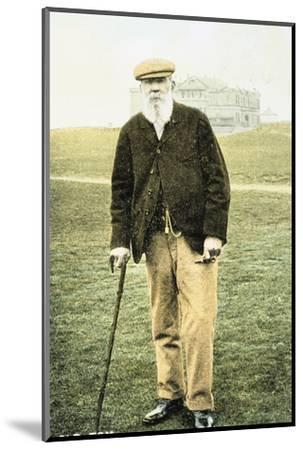 Old Tom Morris, Scottish golfer, postcard, 1900-Unknown-Mounted Photographic Print