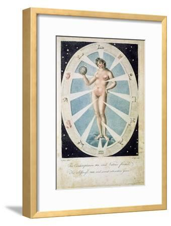 The female form with astrological symbols, 1790-Unknown-Framed Giclee Print