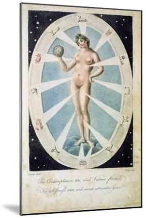The female form with astrological symbols, 1790-Unknown-Mounted Giclee Print