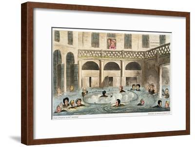'Public Bathing at Bath, or Stewing Alive', 1825-Isaac Robert Cruikshank-Framed Giclee Print