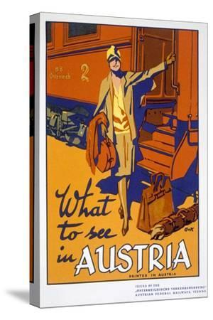 'What to see in Austria', travel poster, c1920s-Unknown-Stretched Canvas Print