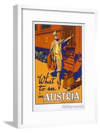 'What to see in Austria', travel poster, c1920s-Unknown-Framed Giclee Print