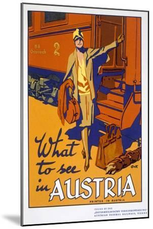 'What to see in Austria', travel poster, c1920s-Unknown-Mounted Giclee Print