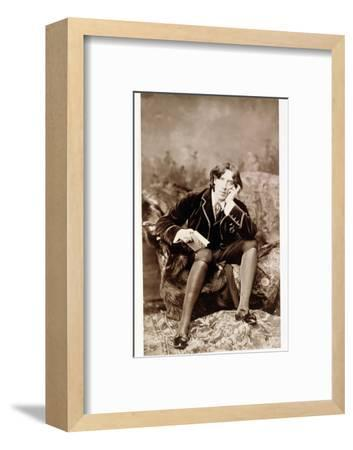 Oscar Wilde, Irish born wit and playwright, 1882-Unknown-Framed Photographic Print