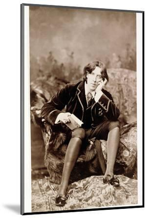 Oscar Wilde, Irish born wit and playwright, 1882-Unknown-Mounted Photographic Print