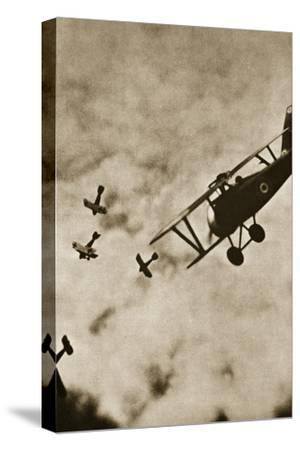 Pursuit. Aerial warfare, World War I, c1916-c1918-Unknown-Stretched Canvas Print