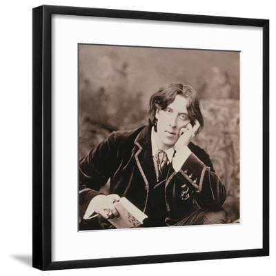 Oscar Wilde, Irish born playwright and wit, 1882-Unknown-Framed Photographic Print
