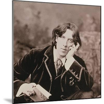 Oscar Wilde, Irish born playwright and wit, 1882-Unknown-Mounted Photographic Print