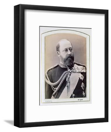 King Edward VII when Prince of Wales, c1884-1898-Walery-Framed Photographic Print
