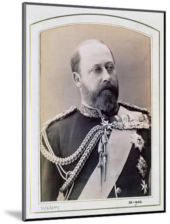 King Edward VII when Prince of Wales, c1884-1898-Walery-Mounted Photographic Print