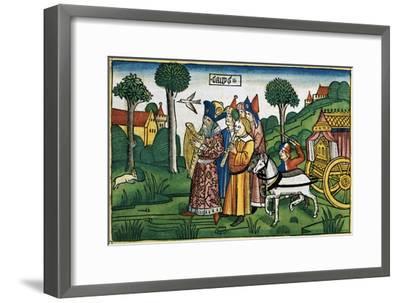 2 Samuel 6:1-5: David brings the Ark to Jerusalem-Unknown-Framed Giclee Print