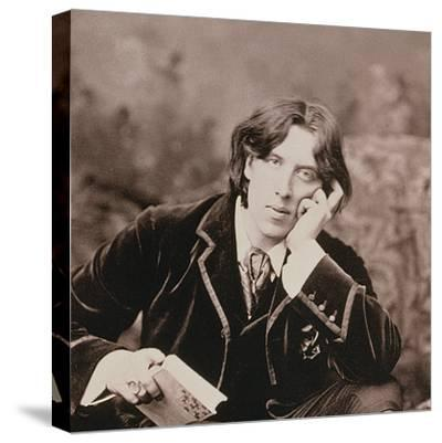 Oscar Wilde, Irish born playwright and wit, 1882-Unknown-Stretched Canvas Print