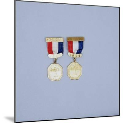 Women's USGA Championship winner's medals, 1901-2-Unknown-Mounted Giclee Print