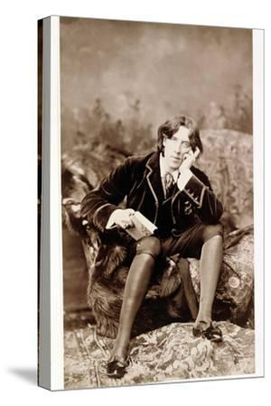 Oscar Wilde, Irish born wit and playwright, 1882-Unknown-Stretched Canvas Print