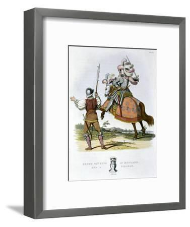 Henry VII, King of England, and a billman, (1824)-Unknown-Framed Giclee Print