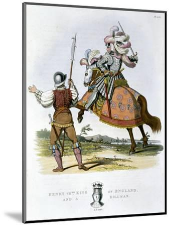 Henry VII, King of England, and a billman, (1824)-Unknown-Mounted Giclee Print
