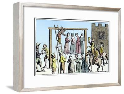 An execution of witches in England, 17th century-Unknown-Framed Giclee Print