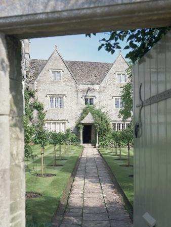 View of the front of Kelmscott Manor, Oxfordshire-Unknown-Framed Photographic Print