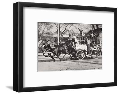 Horse-drawn fire engine, Boise, Idaho, USA, c1900-Unknown-Framed Photographic Print