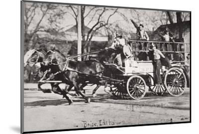 Horse-drawn fire engine, Boise, Idaho, USA, c1900-Unknown-Mounted Photographic Print