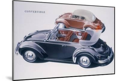 Poster advertising a Volkswagen Convertible, 1959-Unknown-Mounted Giclee Print