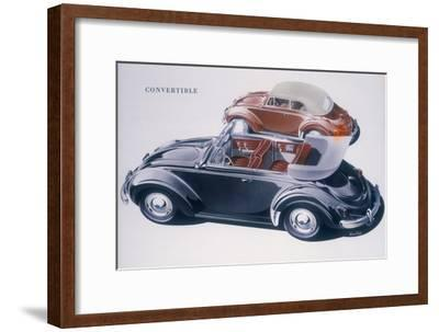 Poster advertising a Volkswagen Convertible, 1959-Unknown-Framed Giclee Print