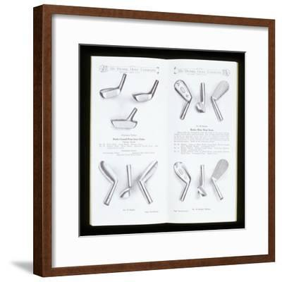 Page from a golf equipment catalogue, c1920-c1960-Unknown-Framed Giclee Print