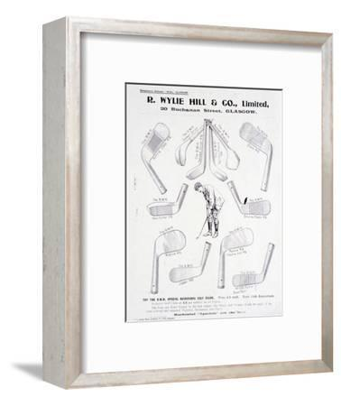 Page from a golf equipment catalogue, c1925-c1940-Unknown-Framed Giclee Print