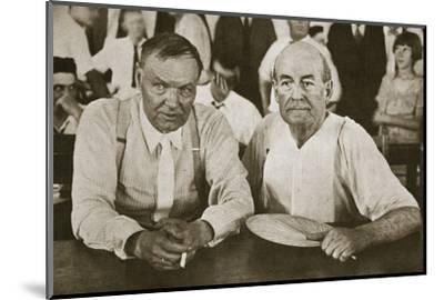'The Protagonists of Dayton', Tennessee, USA, 1925-Unknown-Mounted Photographic Print