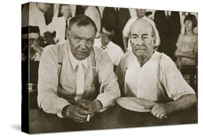 'The Protagonists of Dayton', Tennessee, USA, 1925-Unknown-Stretched Canvas Print