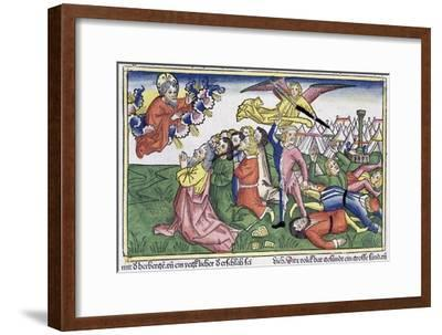 Exodus 32: 15-23: Moses breaking the stone tablets-Unknown-Framed Giclee Print