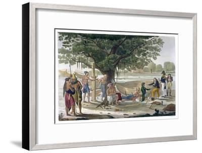 Boatyard near Kupang, Timor, Indonesia, c1820-1839-Unknown-Framed Giclee Print