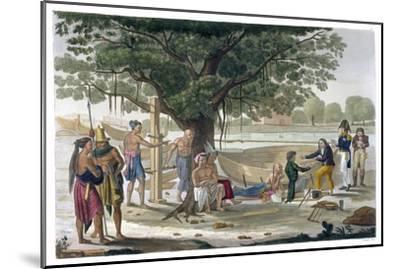 Boatyard near Kupang, Timor, Indonesia, c1820-1839-Unknown-Mounted Giclee Print