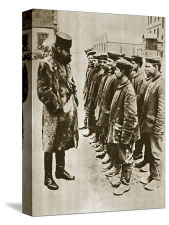 Youthful German prisoners of war, World War I, 1918-Unknown-Stretched Canvas Print