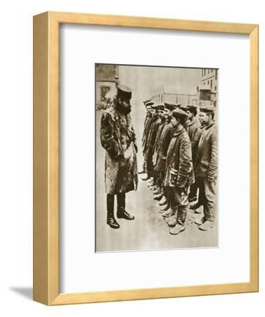 Youthful German prisoners of war, World War I, 1918-Unknown-Framed Photographic Print